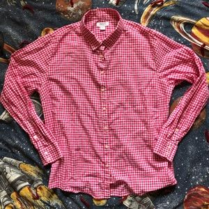 Vintage 90s Pink Gingham Button Up